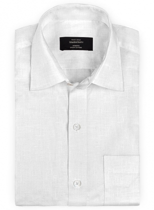 Pure White Linen Shirt