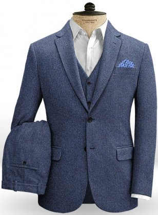 Empire Blue Tweed Suit