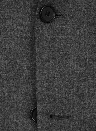 Charcoal Flannel Wool Suit- Ready Size