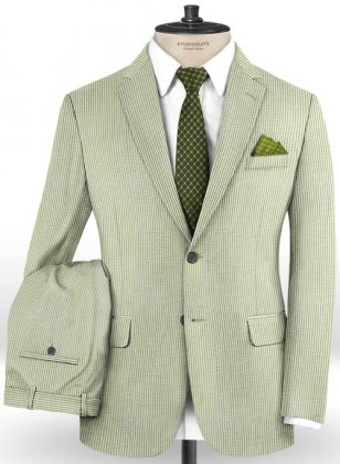 Seersucker Green Suit