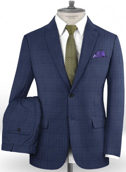 Reda Jullo Blue Wool Suit