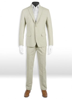 Tropical Light Beige Linen Suit - Special Offer