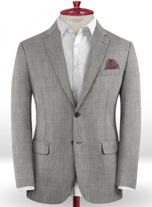 Scabal Anto Gray Wool Jacket