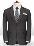 Worsted Super Dark Gray Wool Jacket