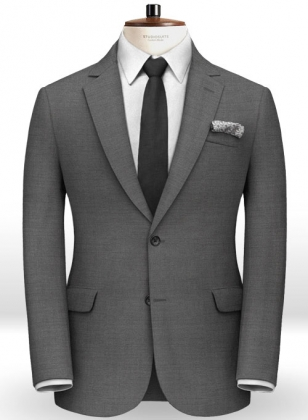 Scabal Gray Twill Pure Wool Jacket