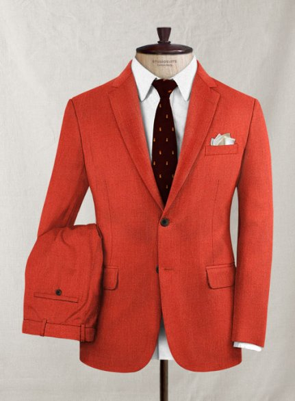 Italian Wool Cashmere Filona Orange Suit
