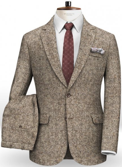 Caccioppoli Donegal Light Brown Tweed Suit