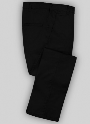 Washed Black Fine Twill Pants