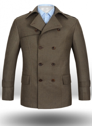 Frosted Brown Terry Rayon Overstyle Jacket