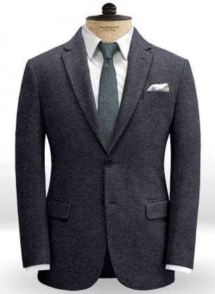 Burma Blue Light Weight Tweed Jacket