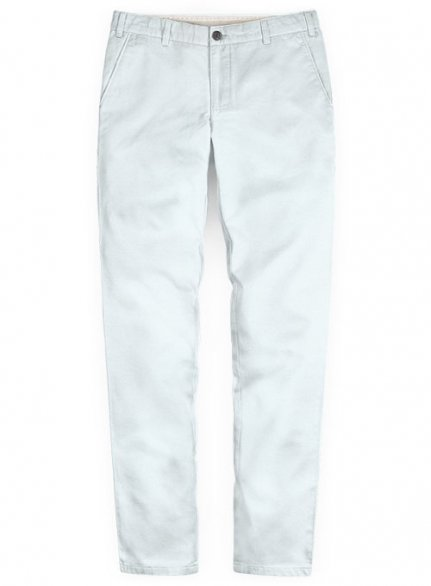 Washed Stretch Summer Weight Sky Blue Chino Pants