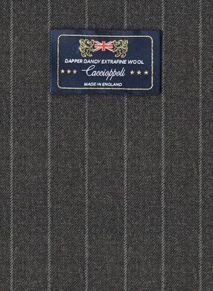 Caccioppoli Dapper Dandy Vigi Dark Gray Suit