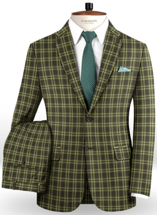 Napolean Poker Green Wool Suit