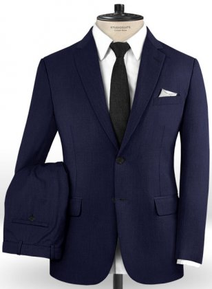Scabal Navy Blue Wool Suit