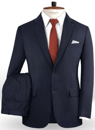 Napolean Navy Blue Wool Suit