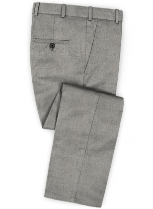 Reda Haze Gray Pure Wool Pants