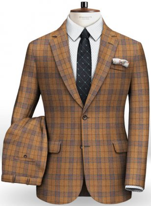 Turin Rust Feather Tweed Suit