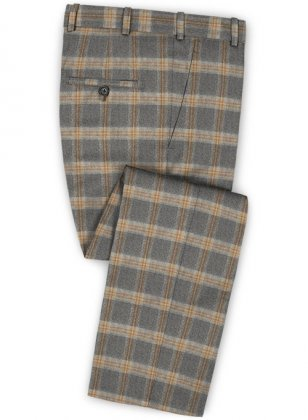 Parma Gray Feather Tweed Pants
