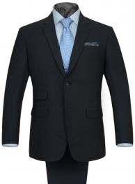 Napolean Dk Blue Mini Checks Wool Suit