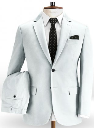 Stretch Summer Weight Sky Blue Chino Suit