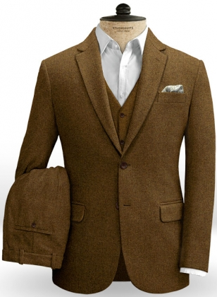 Royal Brown Heavy Tweed Suit