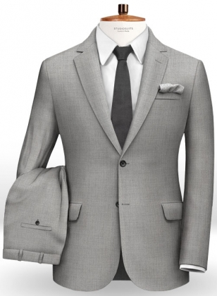 Crest Gray Wool Suit