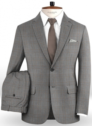 Napolean Strum Gray Wool Suit