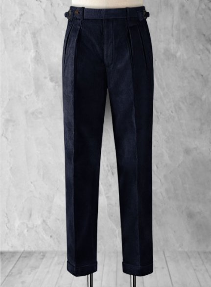 Blue Colonel Corduroy Trousers