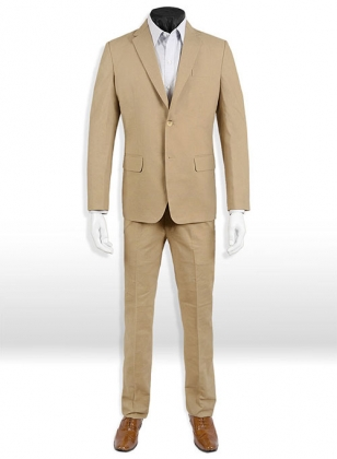 Tropical Tan Linen Suit