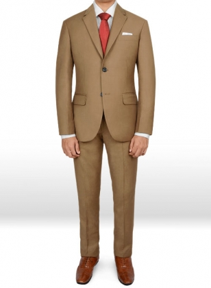 Napolean Tan Wool Suit