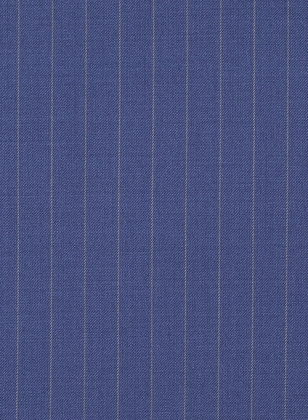 Chalkstripe Wool Royal Blue Suit