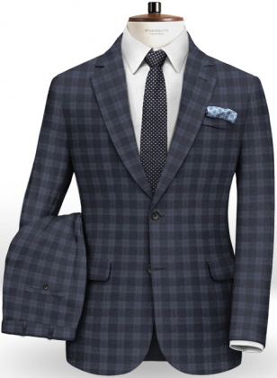 Marc Stretch Cotton Navy Suit