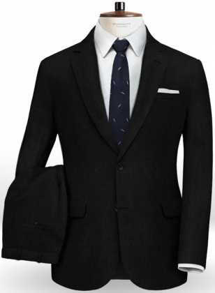 Italian Black Wool Suit