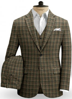 Aros Checks Tweed Suit