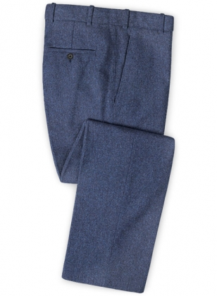 Empire Blue Tweed Pants