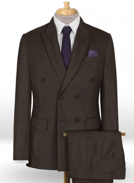 Napolean Dark Brown Wool Suit