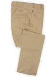 Tropical Tan Linen Pants