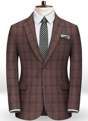 Light Weight Country Wine Tweed Jacket