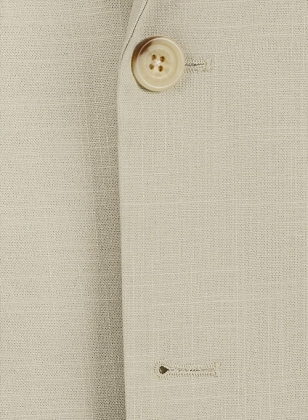 Tropical American Beige Linen Suit