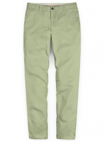 Washed Stretch Summer Weight River Green Chino Pants