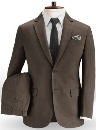 Summer Weight Brown Chino Suit