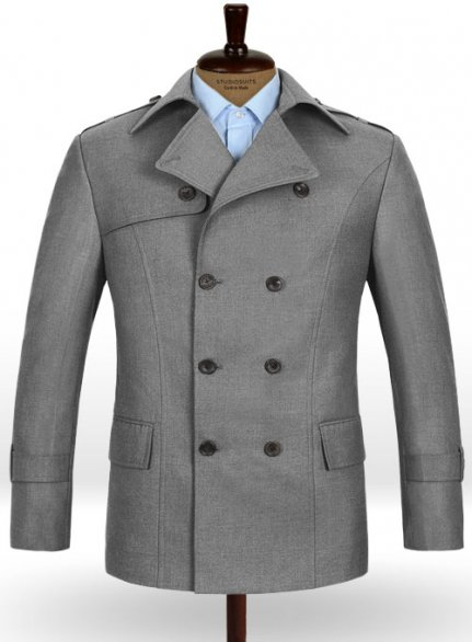 Frosted Mid Gray Terry Rayon Overstyle Jacket