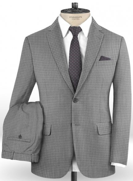 Reda Zaui Gray Wool Suit