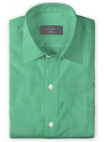 Giza Coral Green Cotton Shirt
