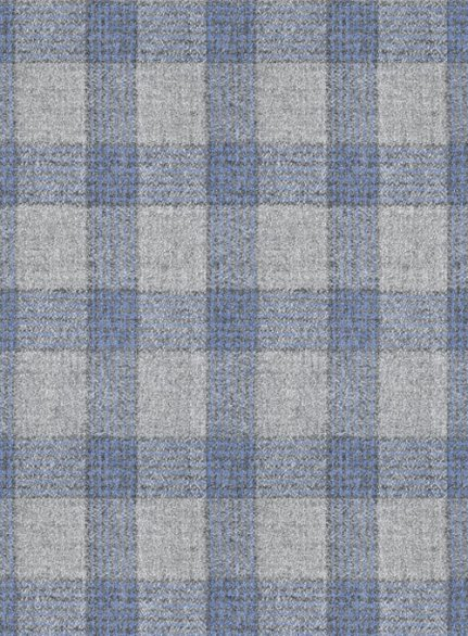 Italian Wool Cashmere Gray Blue Checks Suit