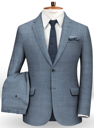 Italian Wool Silk Occhi Suit