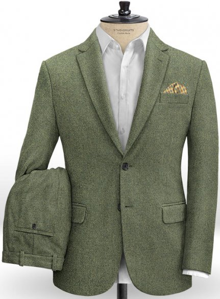 Naples Green Tweed Suit