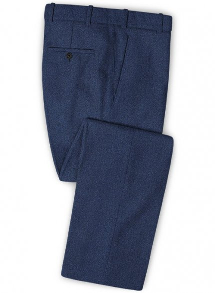 Royal Blue Heavy Tweed Pants