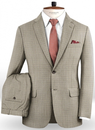 Napolean Lazo Brown Wool Suit