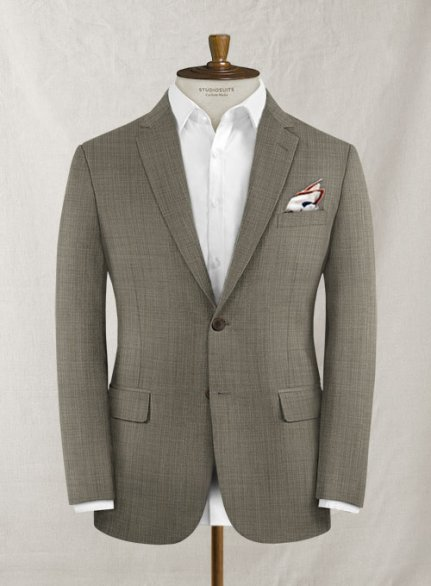 Roma Light Brown Pure Wool Jacket